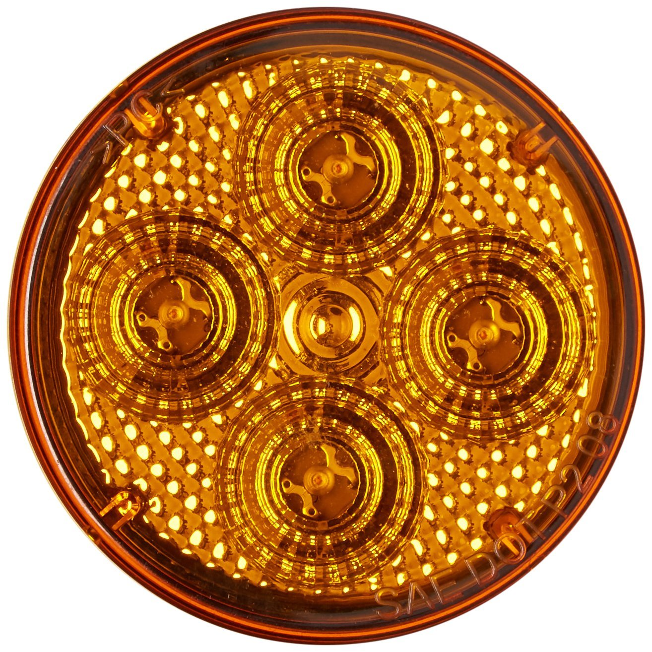 RoadPro RP1010ADL Amber 2.5 Round Diamond Lens Sealed LED Light with 2-Pin Connection