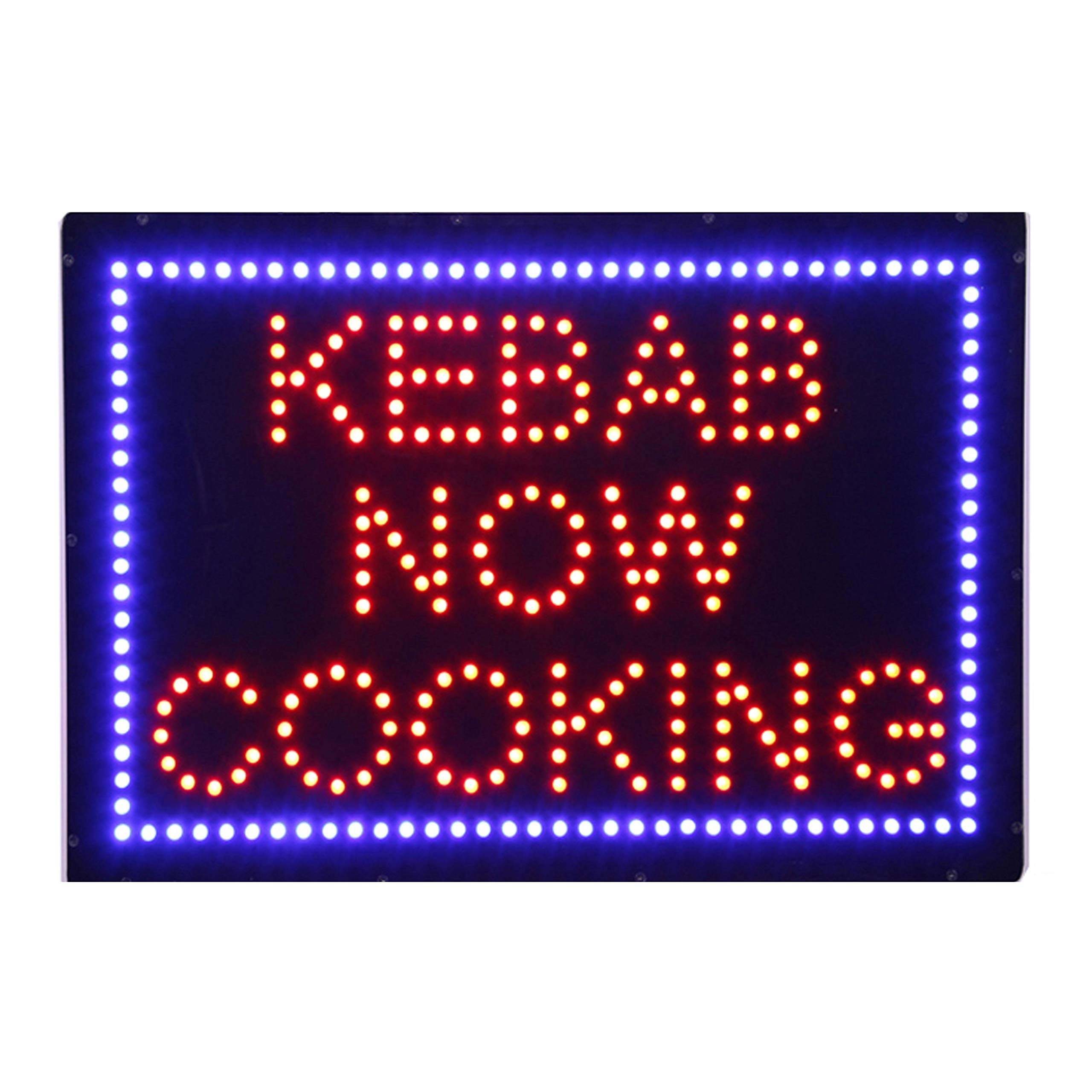 LED Kebab Grill Open Light Sign Super Bright Electric Advertising Display Board for Pizza Turkish Mediterranean Food Fare Business Shop Store Restaurant Window Bedroom Decor 24 x 16 inches by HIDLY
