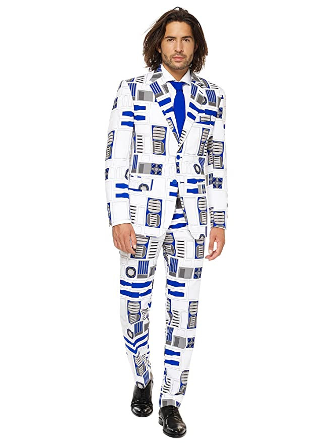 OppoSuits Star Wars™ Mens Suit - Official R2-D2™ Costume Comes with Pants, Jacket and Tie
