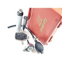 Cynamed Otoscope Set - Multi-Function Ear Scope for Ear & Eye Examination with Otoscope insufflator Bulb-Include Hard Case