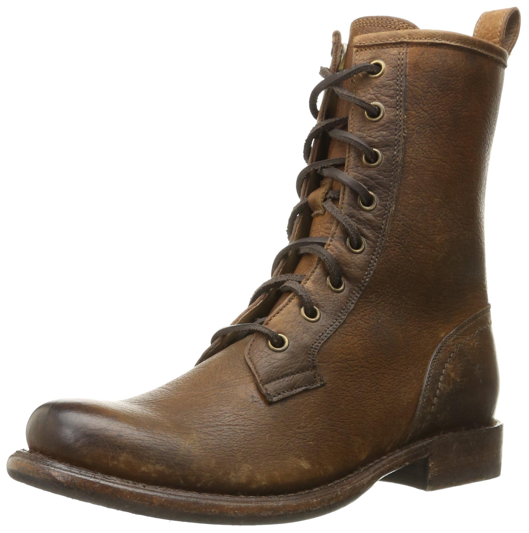 FRYE Women's Jenna Combat Boot, Cognac, 8.5 M US