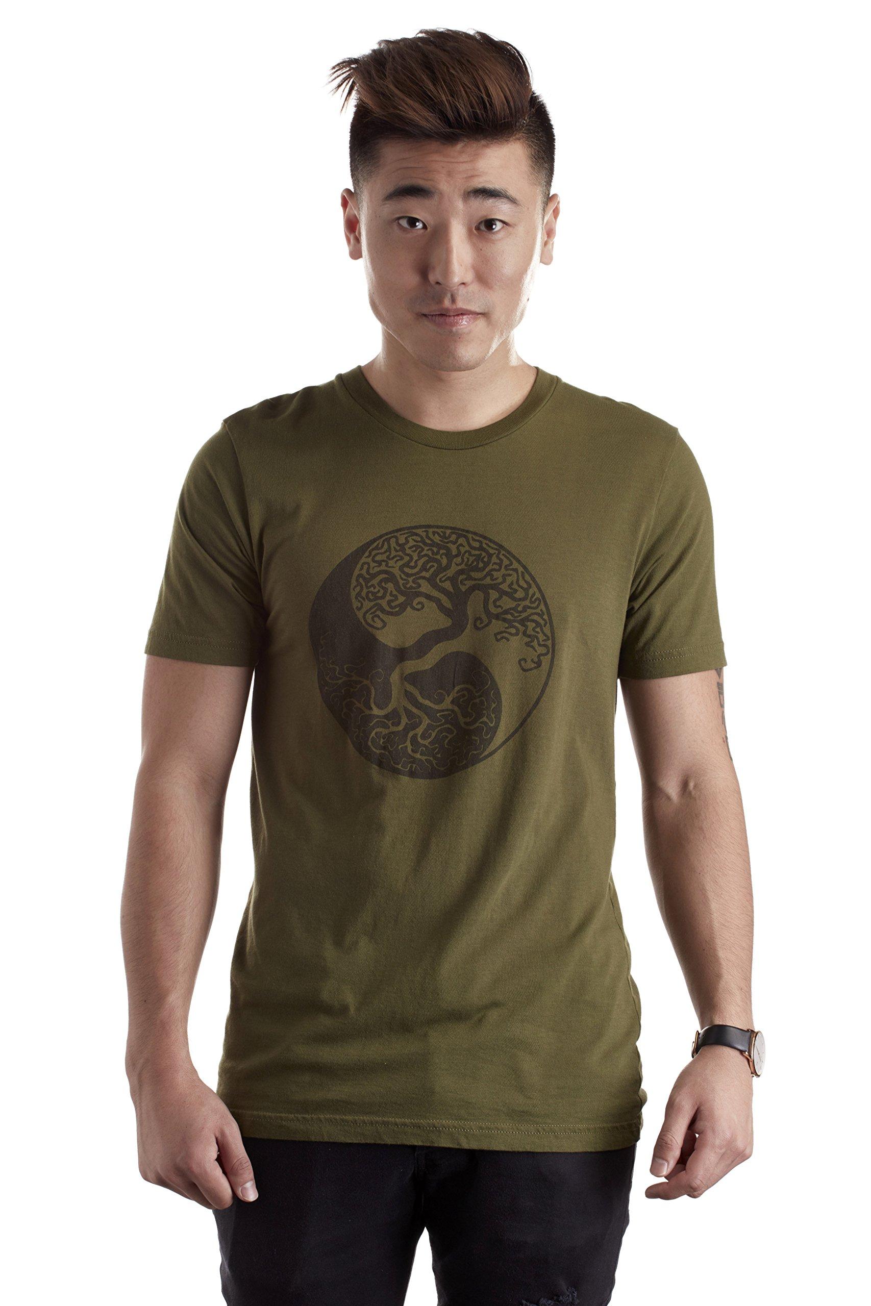 Unisex Hemp T-Shirt, Made from Hemp, Yin Yang Tree of Life Design Top, 100% Organic Sustainable Tee