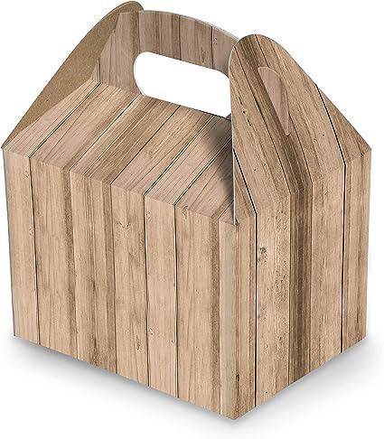 10 pieza Caja Almuerzo Caja Cartón de Regalo de color marrón claro ...