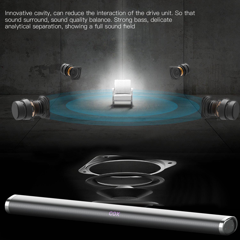Soundbar for TV, OCDAY 35 Zoll 40W Wand Montierbare Bluetooth ...