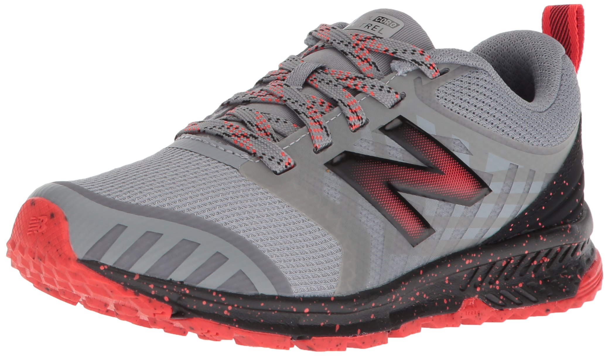 New Balance Boys' Nitrel v3 Trail Running Shoe, Steel/Flame, 13 W US Little Kid