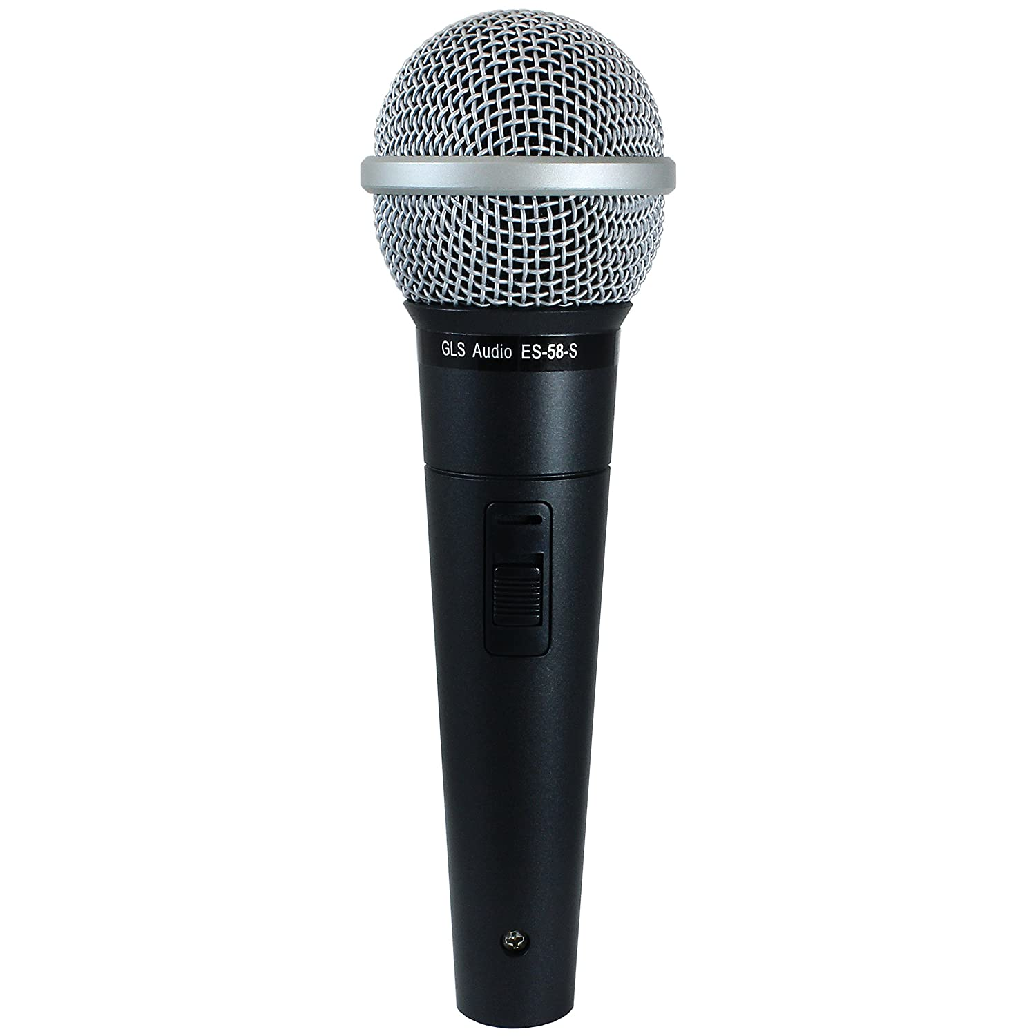 GLS Audio Vocal Microphone ES-58-S & Mic Clip - Professional Series ES58-S Dynamic Cardioid Mike Unidirectional (With On/Off Switch) 37-205