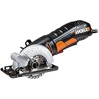 Worx Wx423 Worxsaw Cirkelzaag, 400 W, voor Hout, Metaal, PVC en Keramiek, 85 mm Zaagblad, Zwart en Oranje