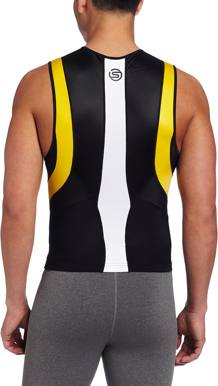 Skins Mens TRI400 Compression Sleeveless Front Zip Top