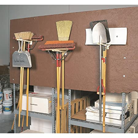 GEMPLERS Original Wall-Mounted Steel Long-Handled Tool Tidy Storage Rack, 12 Inch Depth Bars for Safely Hanging and Storing Brooms Shovels Garden ...