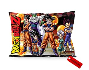 "DoubleUSA Dragon Ball Z Pillowcases Two Sides Print Zipper Pillow Covers 20""x30"""