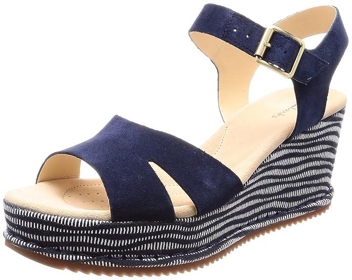 e01a72b5c16a9 Clarks Women s s Akilah Eden Ankle Strap Sandals  Amazon.co.uk  Shoes   Bags