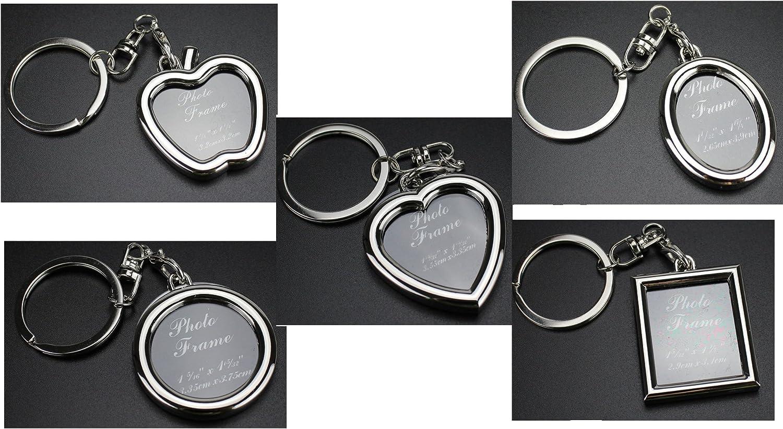 Deesos 5pcs cr/éatif mini cadre photo porte-cl/és cadeau de sac de f/ête image porte-cl/és porte-photo porte-cl/és de voiture