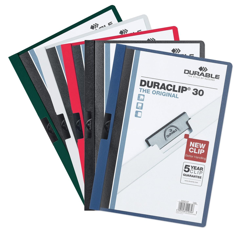 Durable 222701 Klemm Mappe Duraclip Original 30 Hartfolie Bis 30