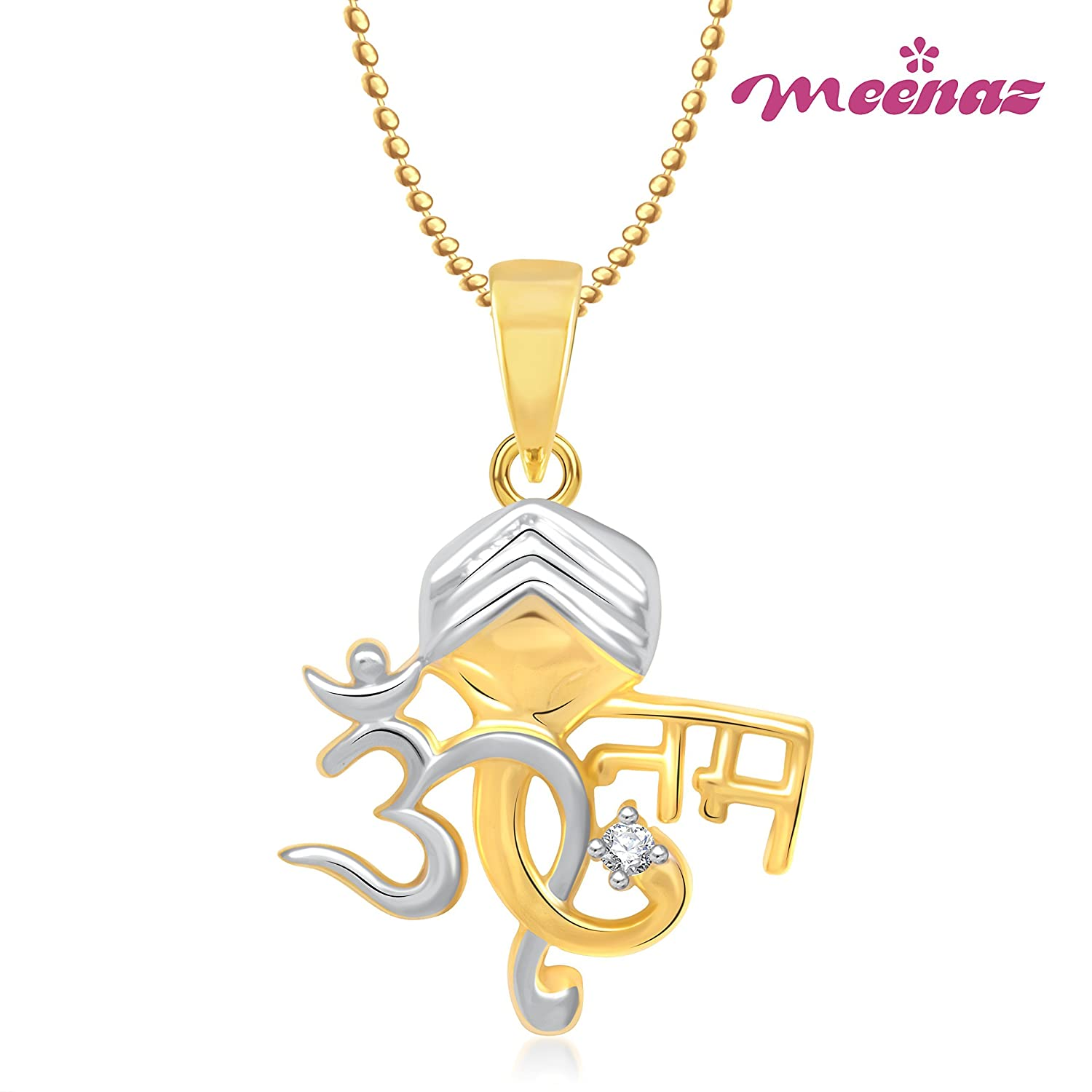 caymancode lockets and gold ganpati in meenfeaa men with god for women diamond cz pendant american gp jewganpati chain plated
