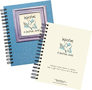 "product image for Journals Unlimited ""Write it Down!"" Series Guided Journal, Inspirations, A Gratitude Journal, with a Blue Hard Cover, Made of Recycled Materials, 7.5""x 9"""