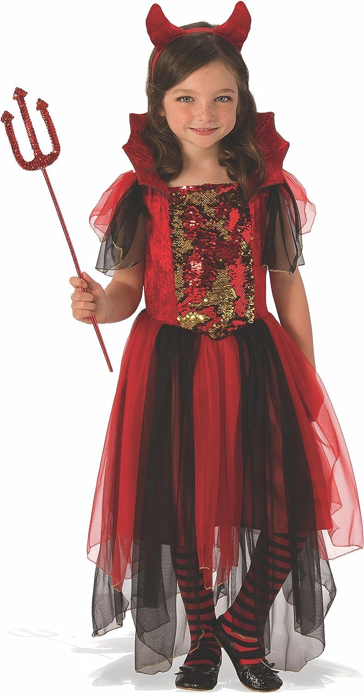 Halloween - Disfraz de Bruja diablesa para niña, color rojo - 8-10 años (Rubie's 641102-L)