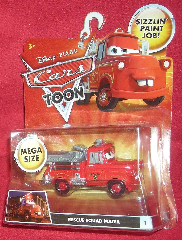 Disney / Pixar CARS TOON 1:55 Die Cast Car Oversized Vehicle Rescue Squad Mater