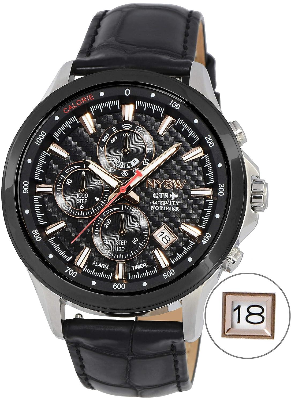 NYSW | La mayoría de Relojes Inteligentes híbridos de Lujo - Día mecánico - Cristal de Zafiro - Impresionante Segunda Mano y más (TC-NY-MH-04-W): Amazon.es: ...