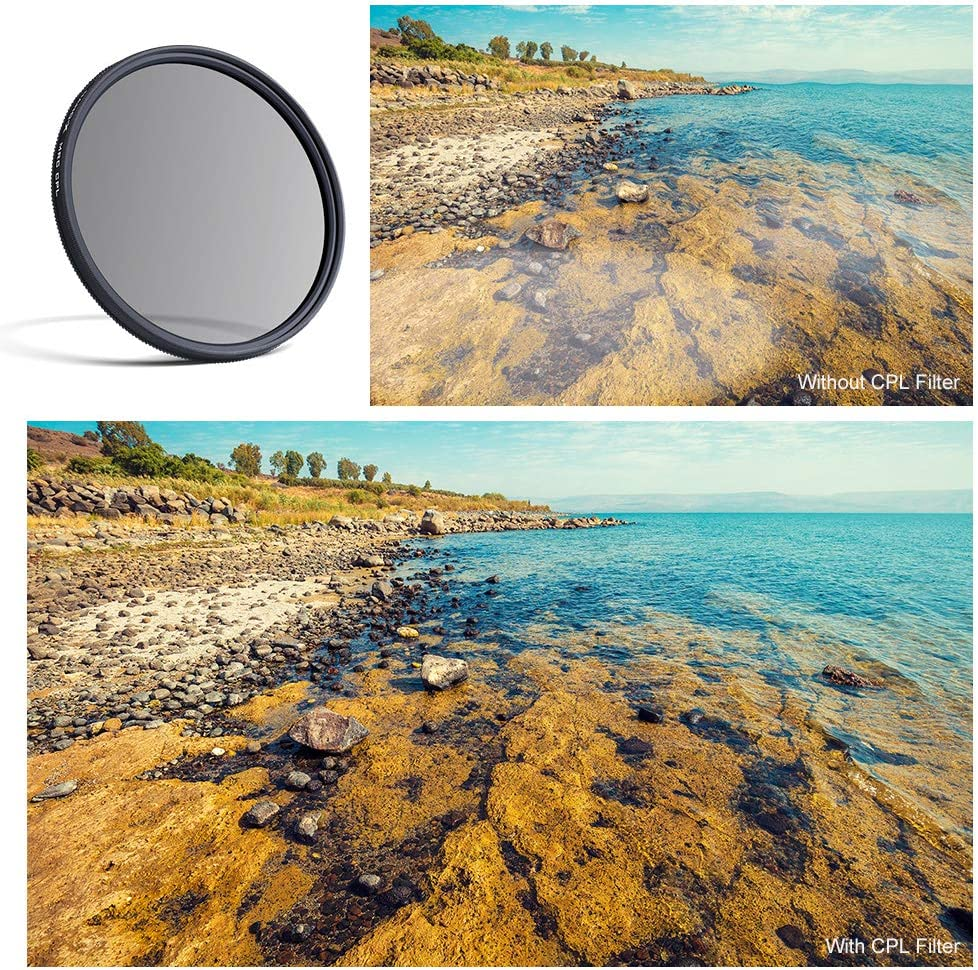 55mm Circular Polarizers Filter K/&F Concept 55MM Circular Polarizer Filter HD 18 Layer Super Slim Multi Coated CPL Lens Filter