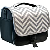 Designer Grey Chevron DSLR Camera Bag