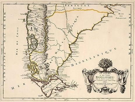 Amazon world atlas map cape horn patagonia chile 1688 world atlas map cape horn patagonia chile 1688 historic antique vintage gumiabroncs Gallery