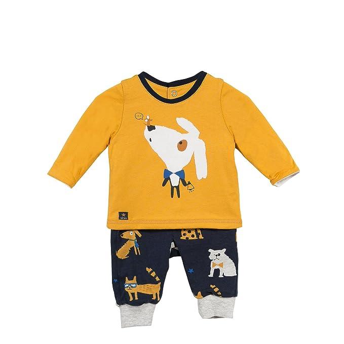 Catimini TS ML Rever+Pan, Conjuntos de Pijama para Bebés, Amarillo (Jaune