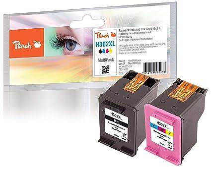 Peach PI300-659 PagePack Negro, Cian, Magenta 15 ml 14 ml - Cartucho de tinta para impresoras (Tinta a base de pigmentos, Negro, Cian, Magenta, HP, HP ...