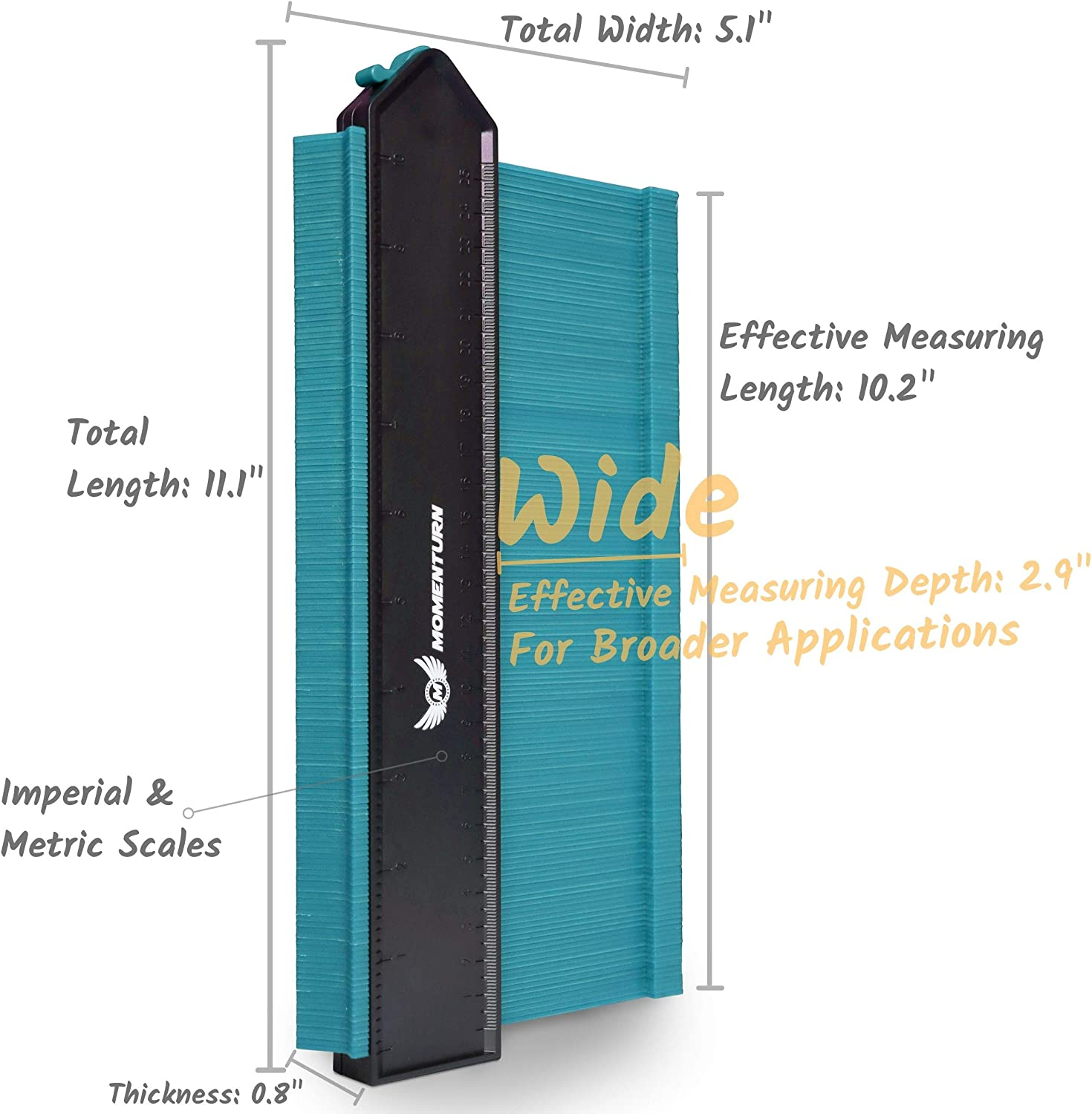 Profile Shape Ez Duplicator Tool 10 Inch Irregular Welding Carpenters Master Outline Contour Gauge Momenturn Easy Copy Ruler Instant Template Ezgauge 2019 Upgraded Light Blue