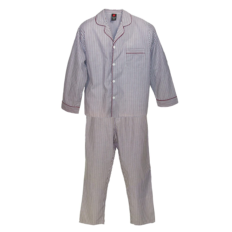 Hanes Men's Big & Tall Broadcloth Long Sleeve Pajama Set