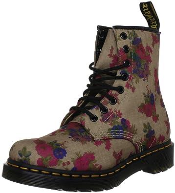 8ac1a59744bfa Dr. Martens Women's Castel 8 Eye Boot,Taupe Vintage Bouquet,5 UK/