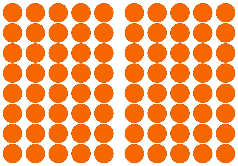 25 mm aus PVC Folie 192 Klebepunkte dunkelrot Markierungspunkte Kreise Punkte Aufkleber wetterfest