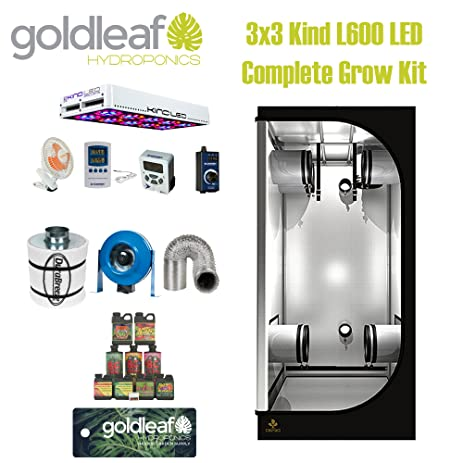 KIND LED L600 LED Complete 3x3 Grow Tent Kit with carbon filter duct fan and  sc 1 st  Amazon.com & Amazon.com : KIND LED L600 LED Complete 3x3 Grow Tent Kit with ...