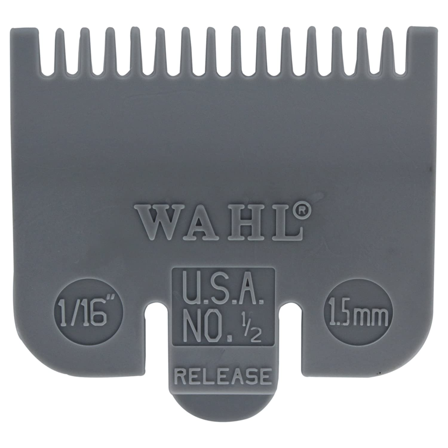 Wahl Professional Color Coded Comb Attachment #3137-101 – Grey #1/2 – 1/16 (1.5mm) – Great for Professional Stylists and Barbers WCGUIDE