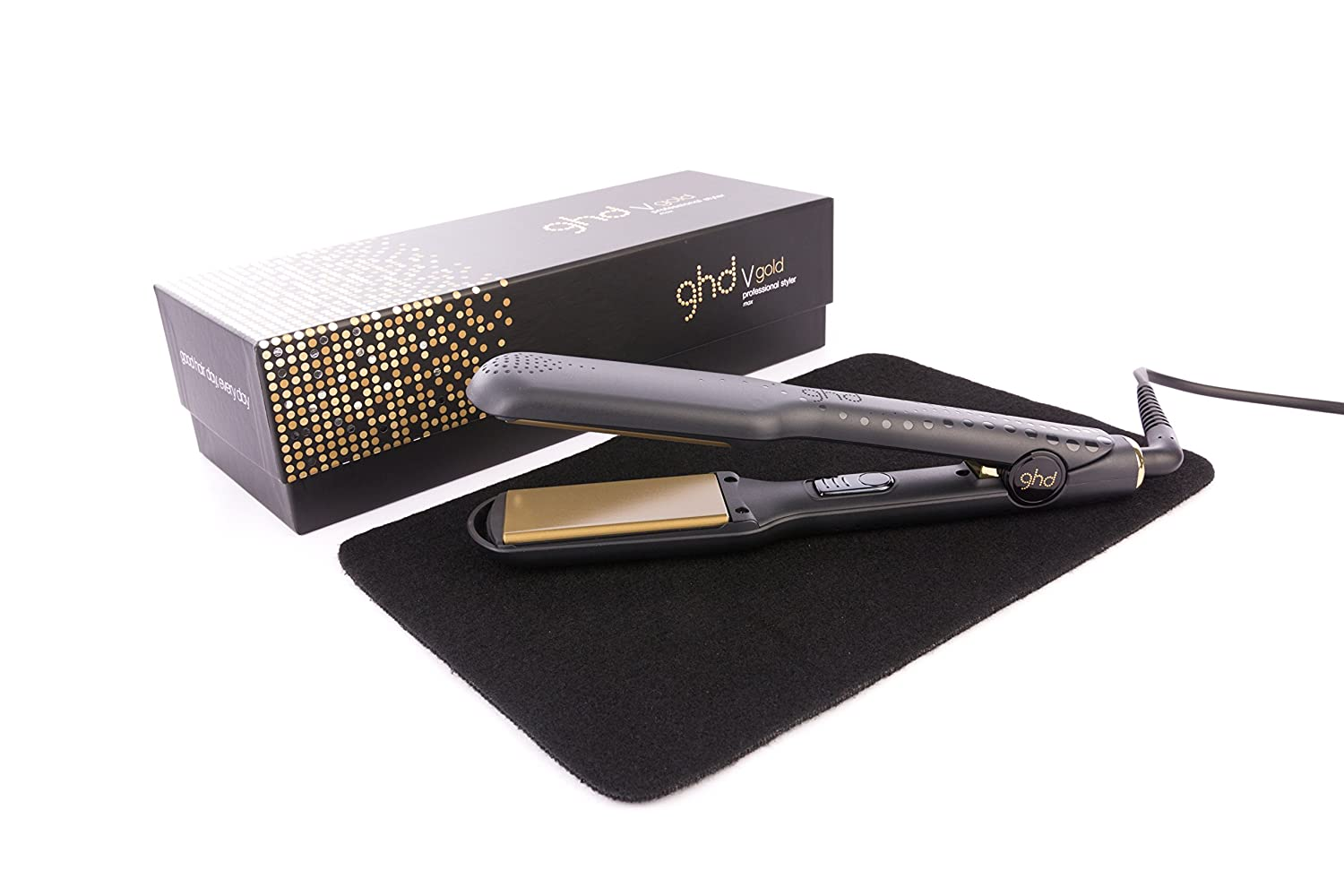 GHD Max Gold V Mark 5 Styler with Mateque Heat Mat (Packaging May Vary from Picture) 2018 Packaging