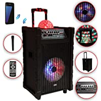 Karaoke Equipo mobile PA altavoz caja Maleta USB SD MP3 Wireless LED DMS® K10 – 10 FZ