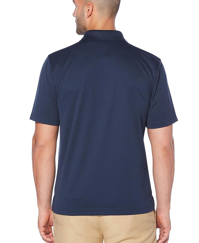 Cubavera Mens Essential Textured Performance Polo Shirt