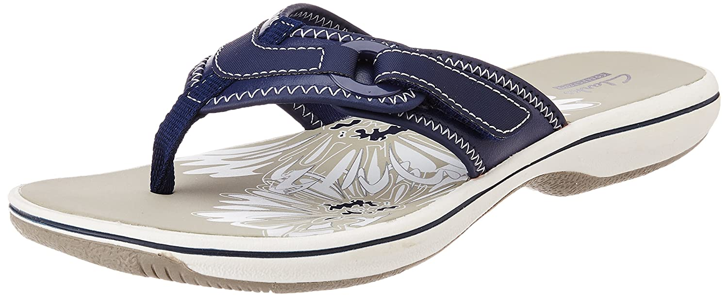 7371dfa1904f Clarks Women s Navy Flip-Flops and House Slippers - 8 UK  Buy Online at Low  Prices in India - Amazon.in