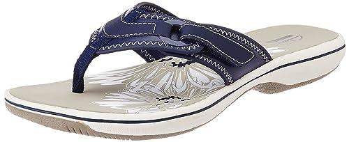 1f1945f06ee Clarks Women s Navy Flip-Flops and House Slippers - 8 UK  Buy Online ...