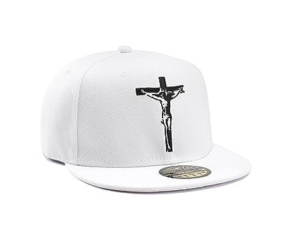 Gorra de Baseball Cristiana Blanca Jesus en la Cruz por True Heads