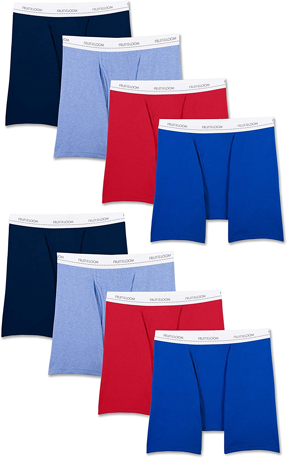 Fruit of the Loom Men's Active Cotton Blend Lightweight Boxer Briefs