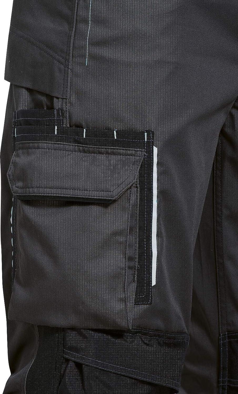 Uvex Tune-up 8909 Pantaloni da Lavoro con Velluto Resistente alle Abrasioni Molte Tasche Laterali Grigio Blu Tasche Cordura Cuscinetti alle Ginocchia Verde Nero