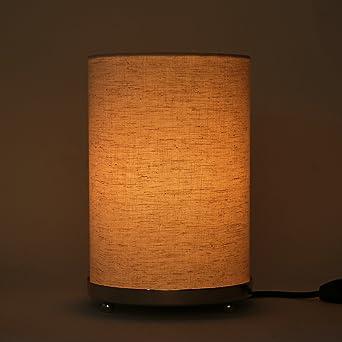 Blanc Tissé Ronde De Texturé Petite Tissu Lampe Table Cassé Jc3Fl1TK
