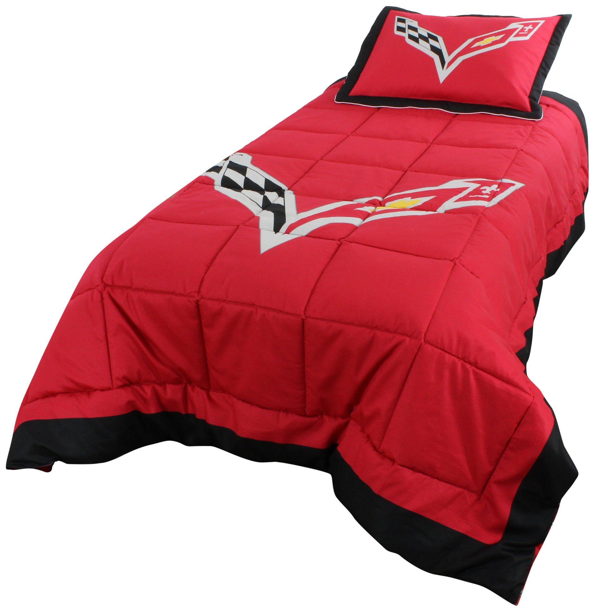 College Covers 2 Piece C7 2 Corvette Comforter Set, 68'' x 86''