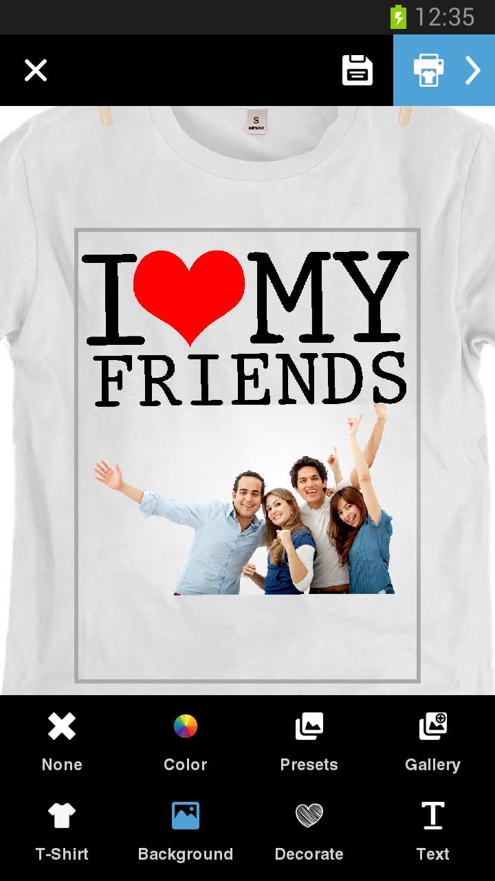 Diseña e imprime tu camiseta