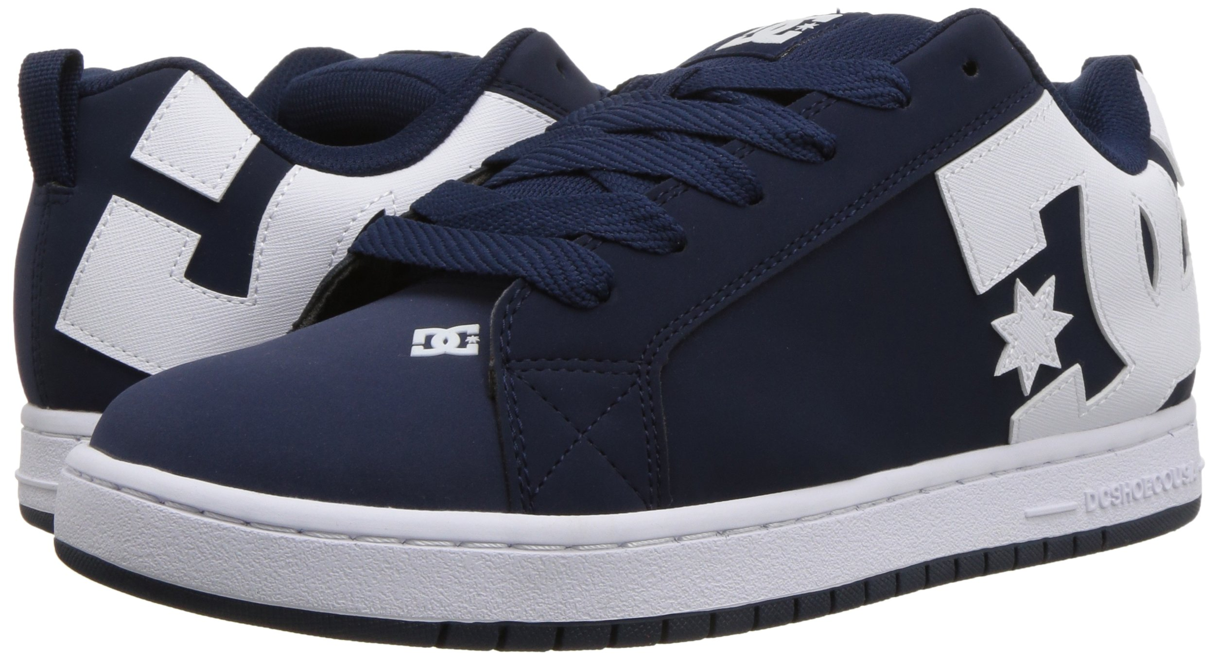 DC Men's Court Graffik Skate Shoe, Navy White 12 D D US by DC (Image #5)