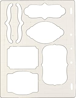 amazon com shape template set 8 5x11 3 pkg circles ovals rectangles