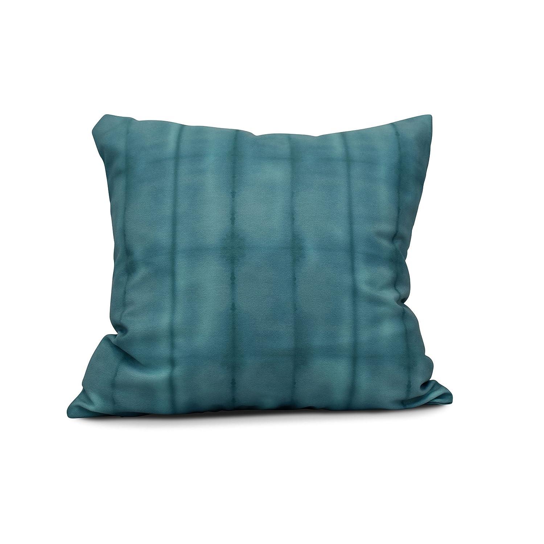 E by design Pool Stripe Print Pillow 26 x 26 Brown