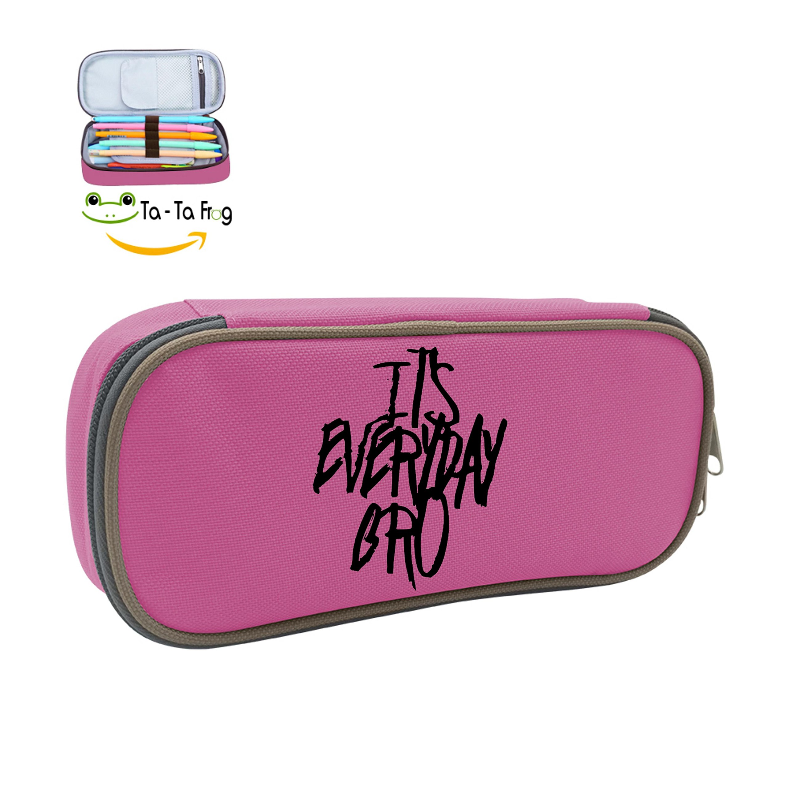 MOPE It's Everyday Bro Pencil Case Double Zipper Large Storage Space Mulit-function Stationary Portable Makeup Bag by Linner