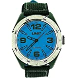 Montre Limit Analogique pour Homme au Grand Cadran Bleu et au Bracelet Nylon Étanche 100 M