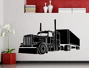 Big Truck Wall Decal Semi Truck Automobile Monster Car Vehicle Vinyl  Sticker Home Nursery Kids Boy